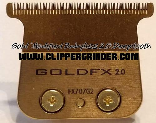 "Image of (3 Week Delivery/Expedited) Gold ""Modified"" Babyliss FX Skeleton Trimmer Blade No file chosen"