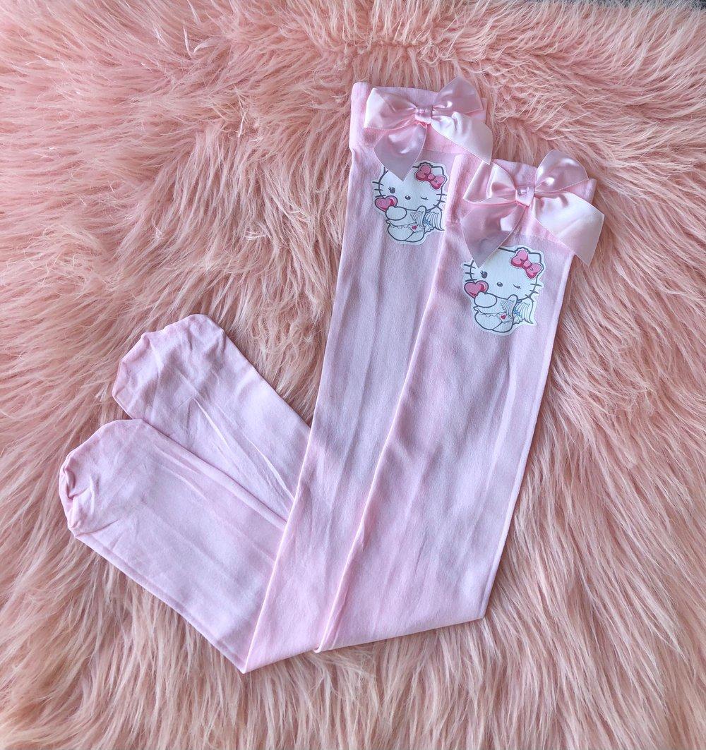 Image of Hello Kitty Thigh High Socks