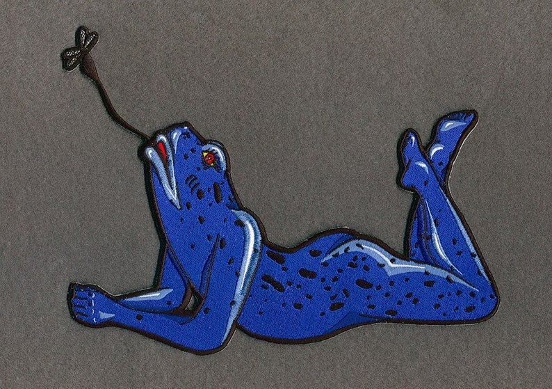 Image of Sexy Frog Iron on Patch