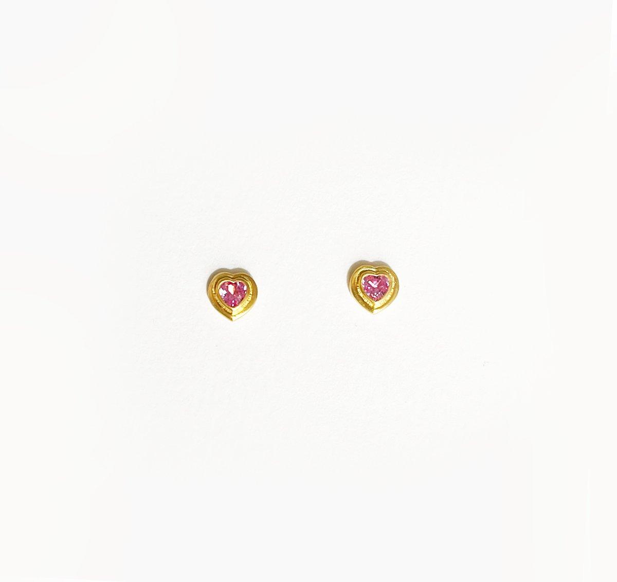 Image of Diana Heart Stud Earring