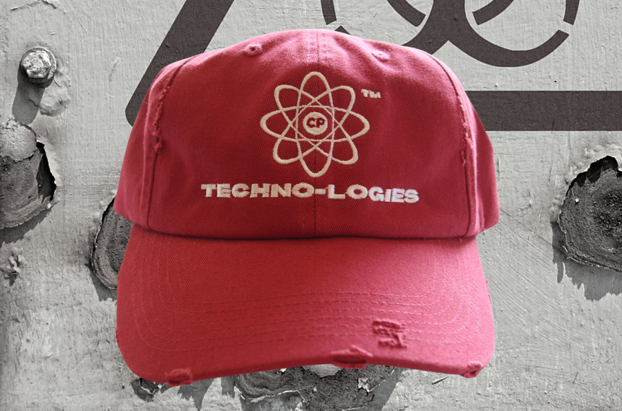 Image of Technologies Distressed Cap (Red)