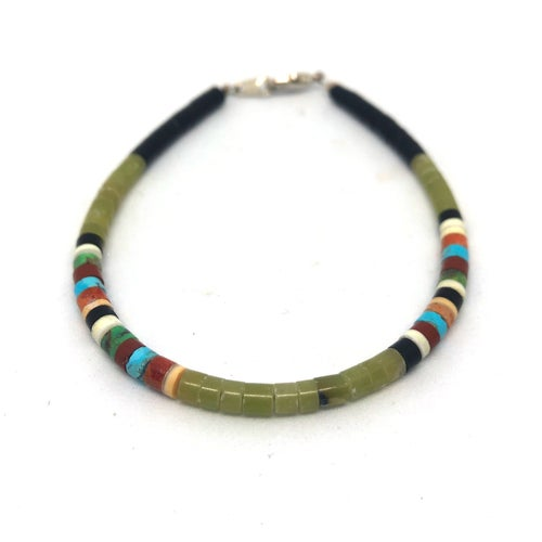 Image of Santo Domingo Mixed Heishi Bracelet (Deep Forest)