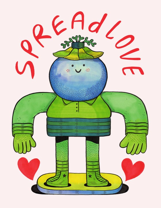 Image of Spread Love Print