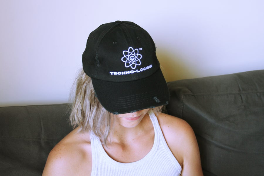 Image of Technologies Distressed Cap (Black)