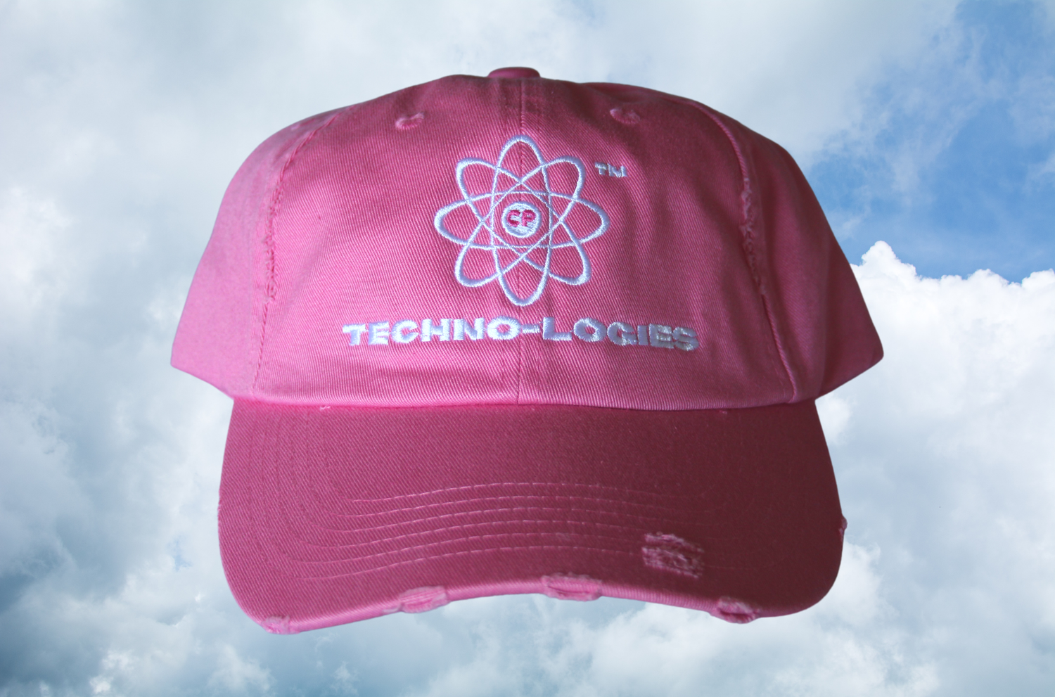 Image of Technologies Distressed Cap (Pink)