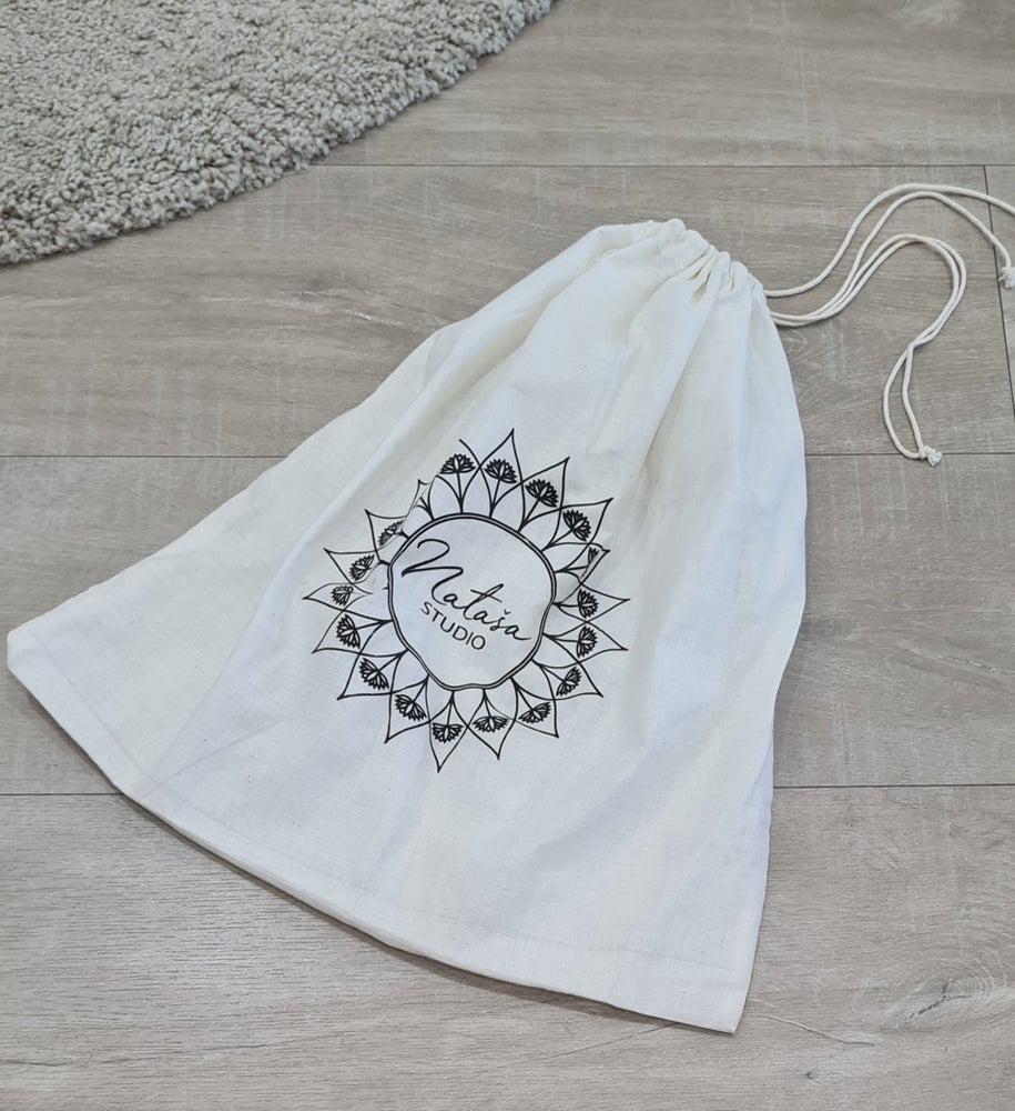 Image of NATASAstudio Eco friendly, sustainable cotton bag. Large.