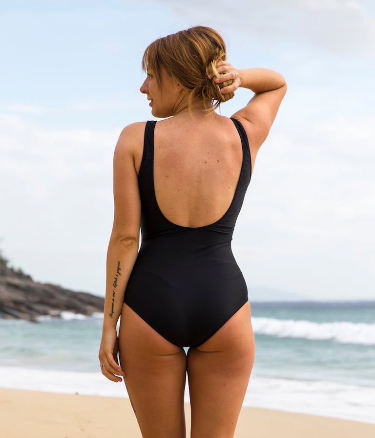 Image of Beach Onepiece - Black