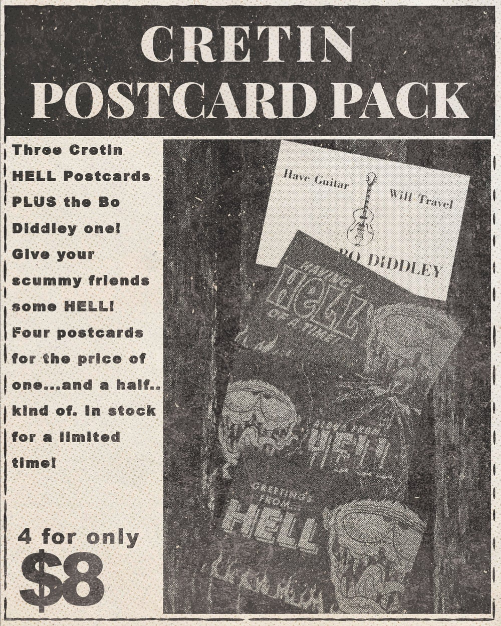 Image of Cretin Postcard 4 Pack Set