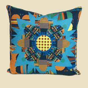 Image of NEW 'City Bloom Blue' Cushion