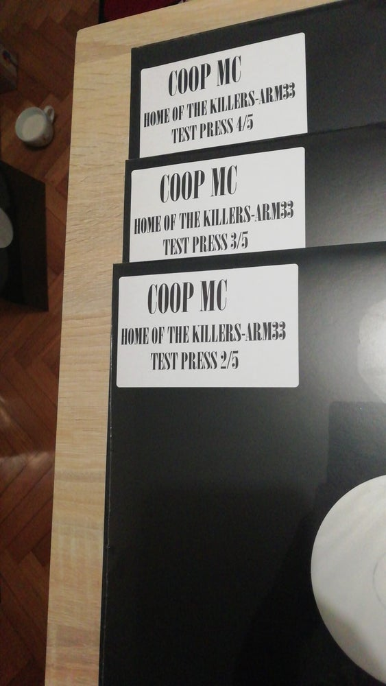 Image of Coop MC - Home Of The Killers TEST PRESS