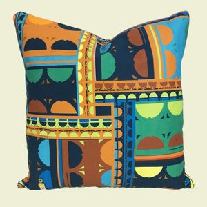 Image of NEW 'City Blue Geo' cushion