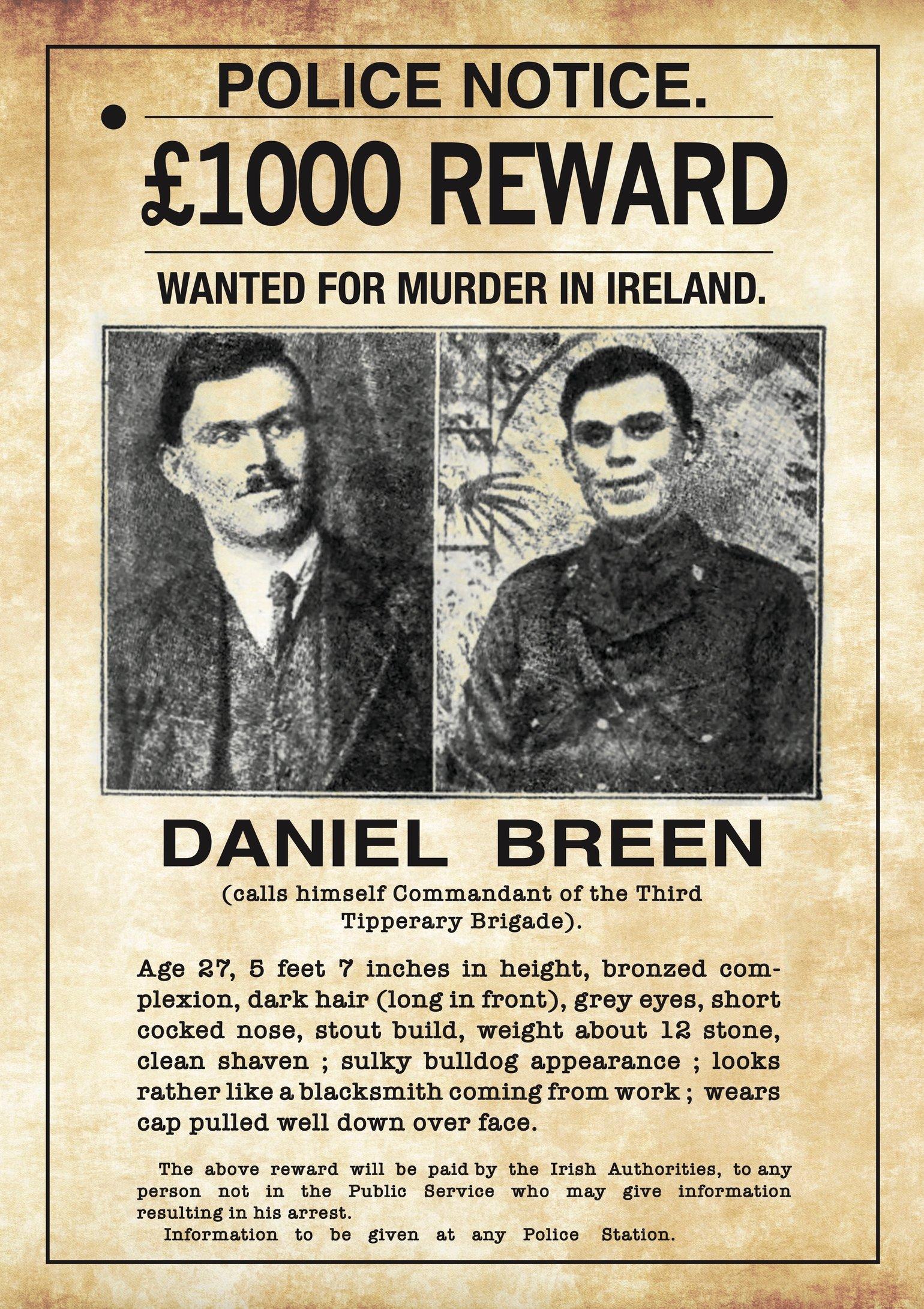 Image of Dan Breen Wanted Poster