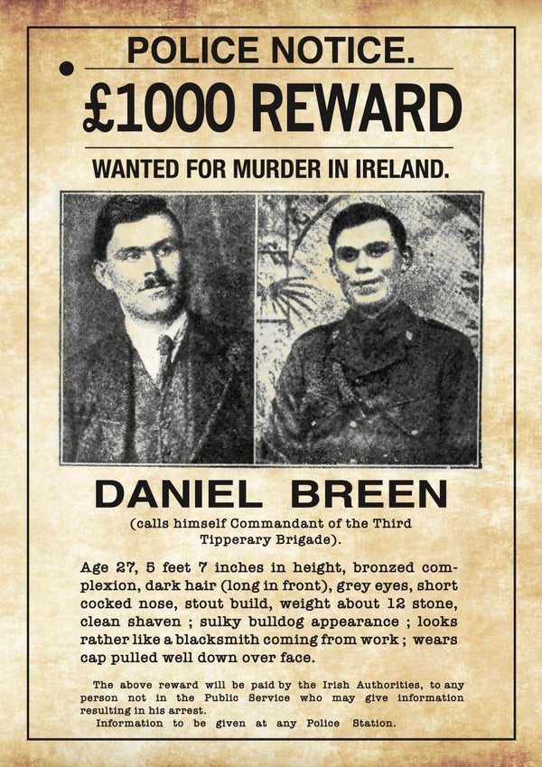 Image of Dan Breen Wanted Poster