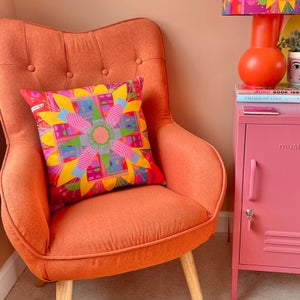 Image of NEW 'City Bloom' Pink Cushion