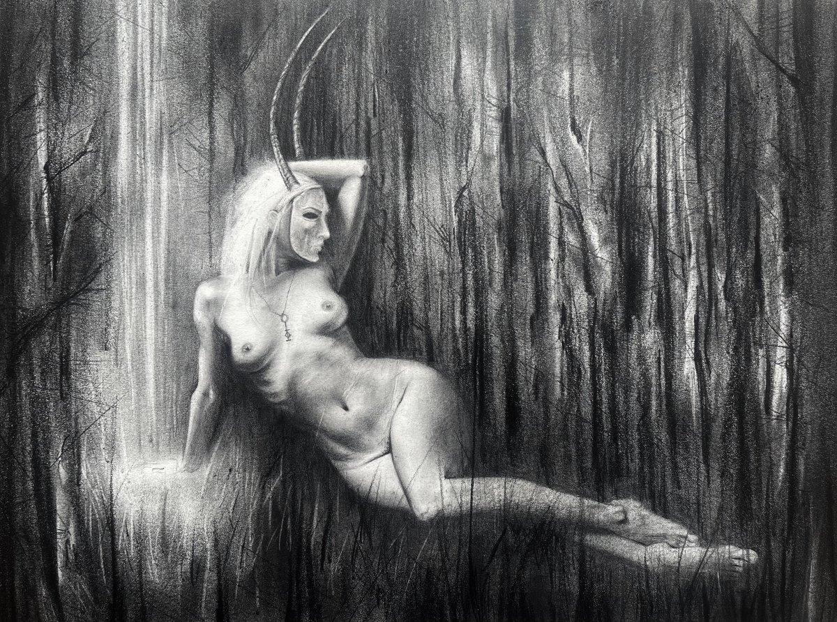 Image of Horned, Night-Shining Maiden