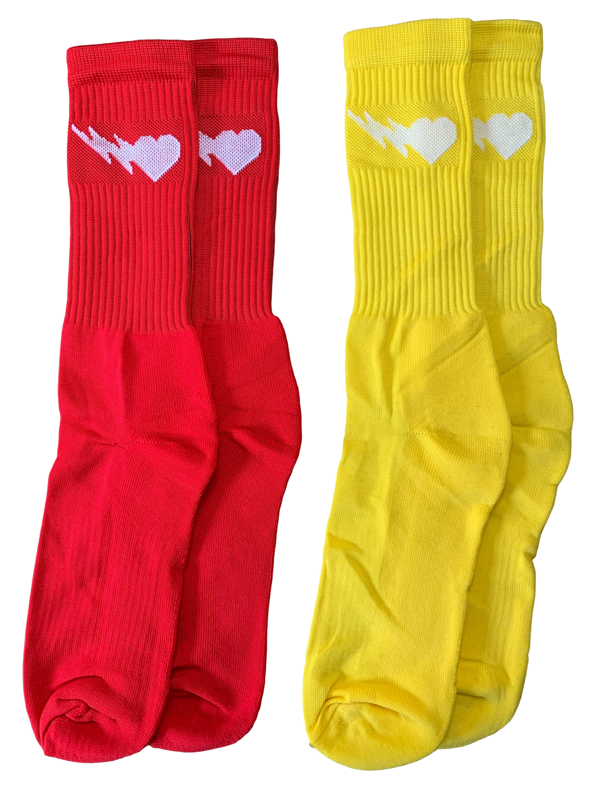 Image of RED AND YELLOW LOGO CREW SOCKS 2-PACK