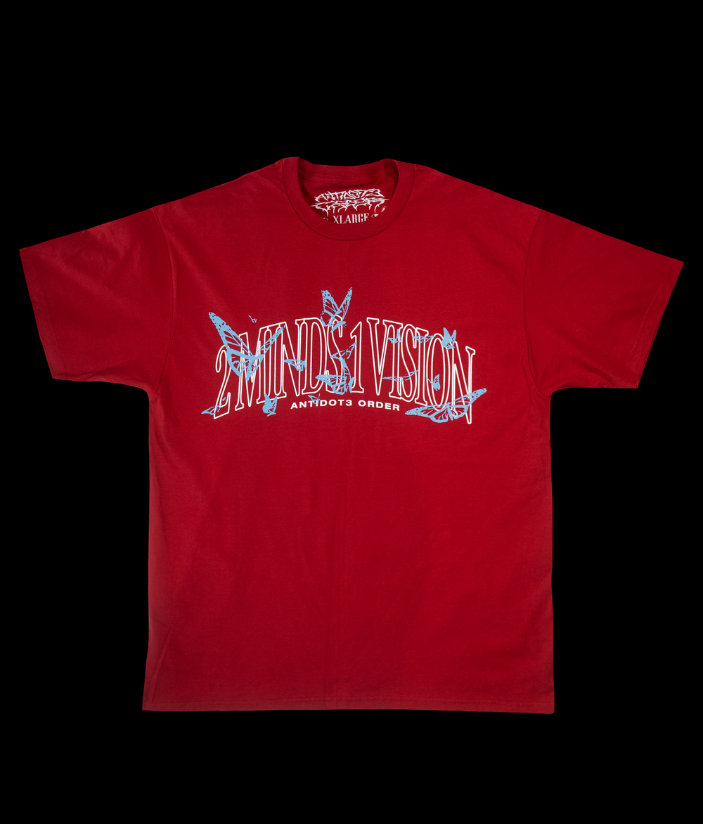 Image of TWO MINDS ONE VISION T-SHIRT RED