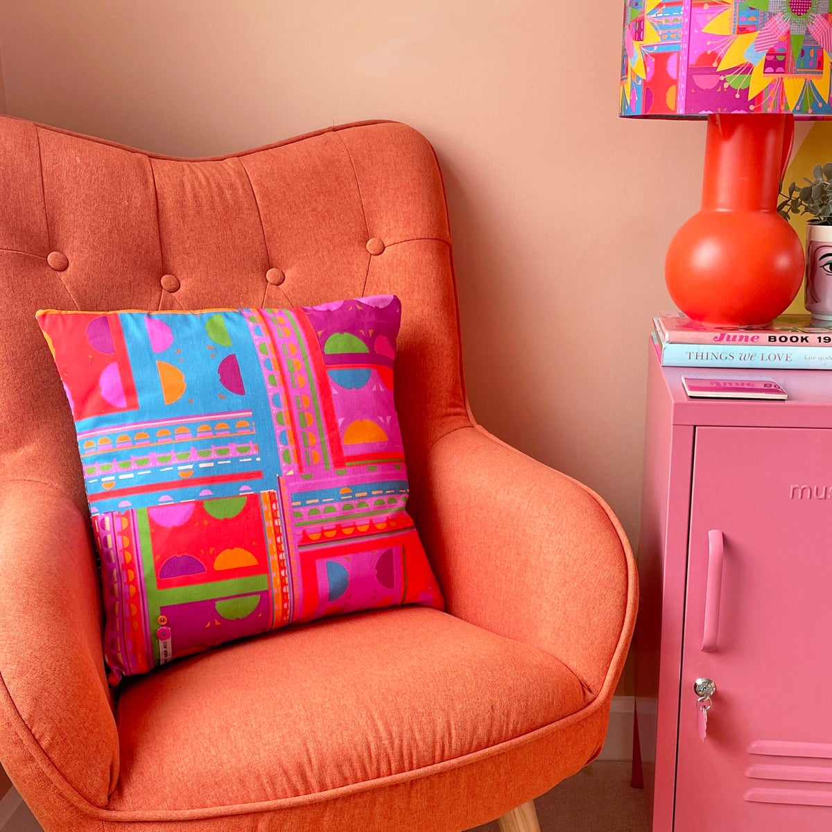 Image of NEW 'City Pink Geo' Cushion