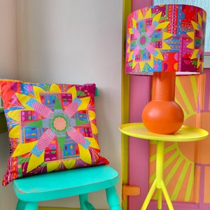 Image of NEW 'City Bloom Pink' Lampshade