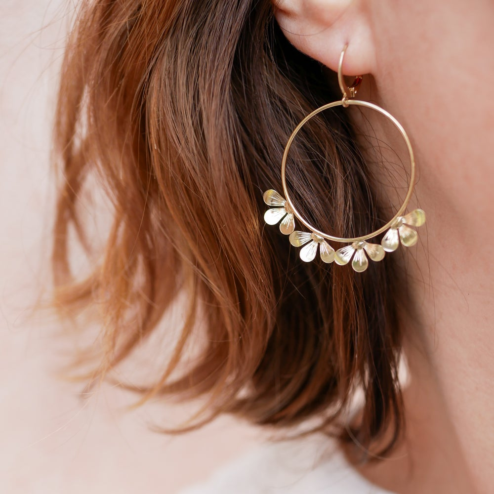 Image of Grandes Boucles d'Oreilles BLOOM