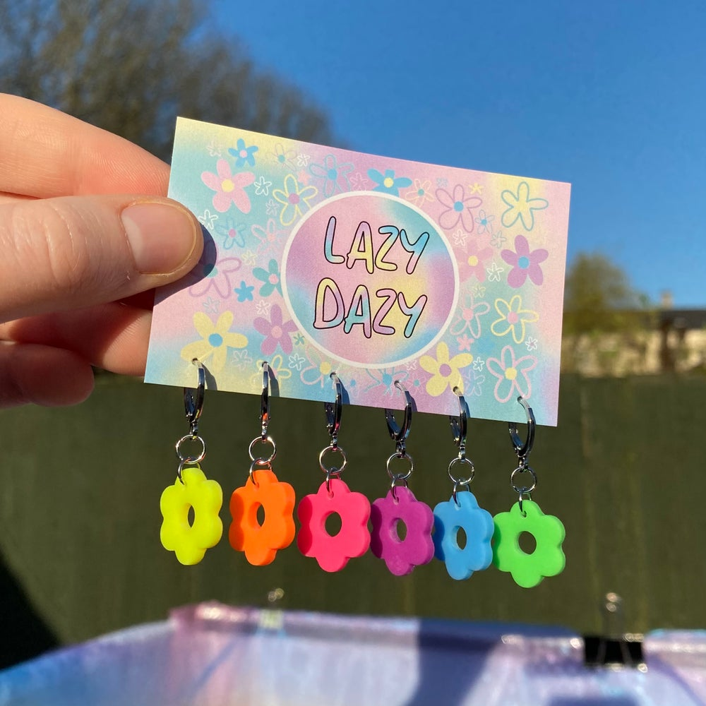 Image of Neon Dazy Hoops