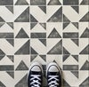 Newton Tile Stencils for Floors, Tiles and Walls-Geometric Stencil - DIY Floor Project.