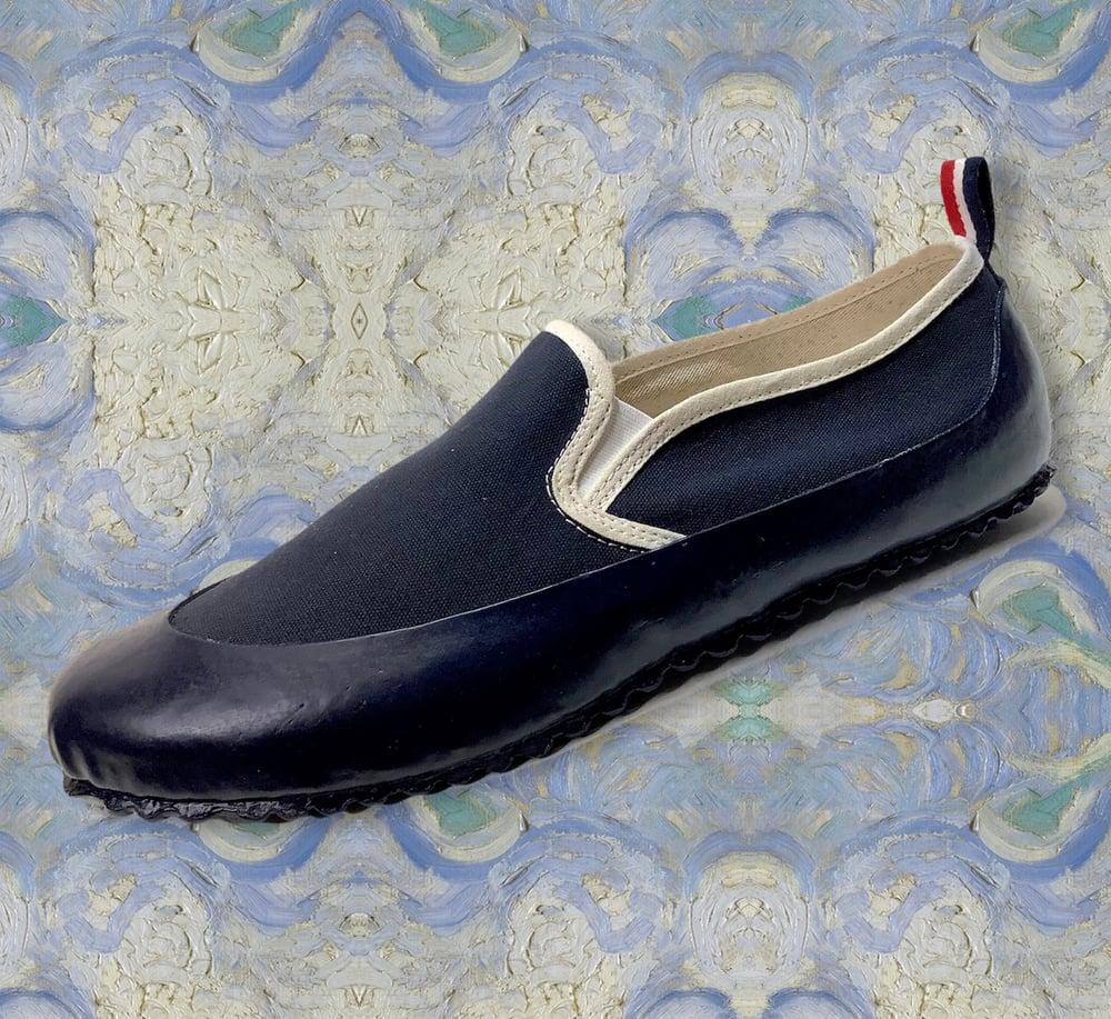 Image of ALLX x Quarter416 marine slip on sneaker made in Romania