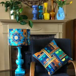 Image of NEW 'City Bloom Blue' Lampshade