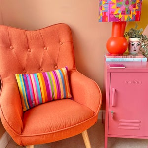 Image of NEW 'City Stripe Pink' Bolster