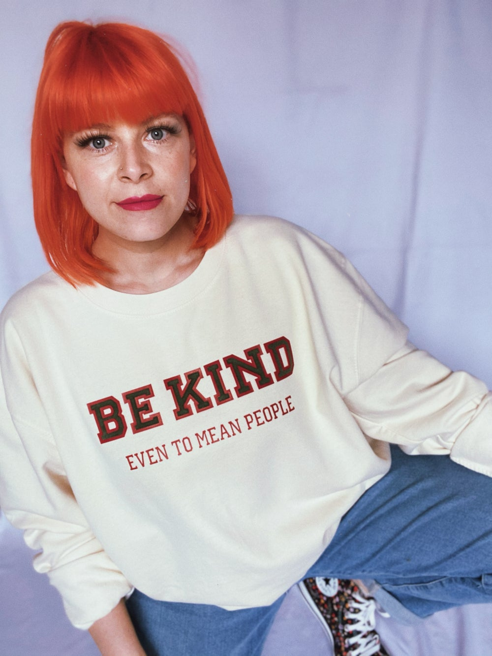 Image of Be kind even to mean people varsity sweat