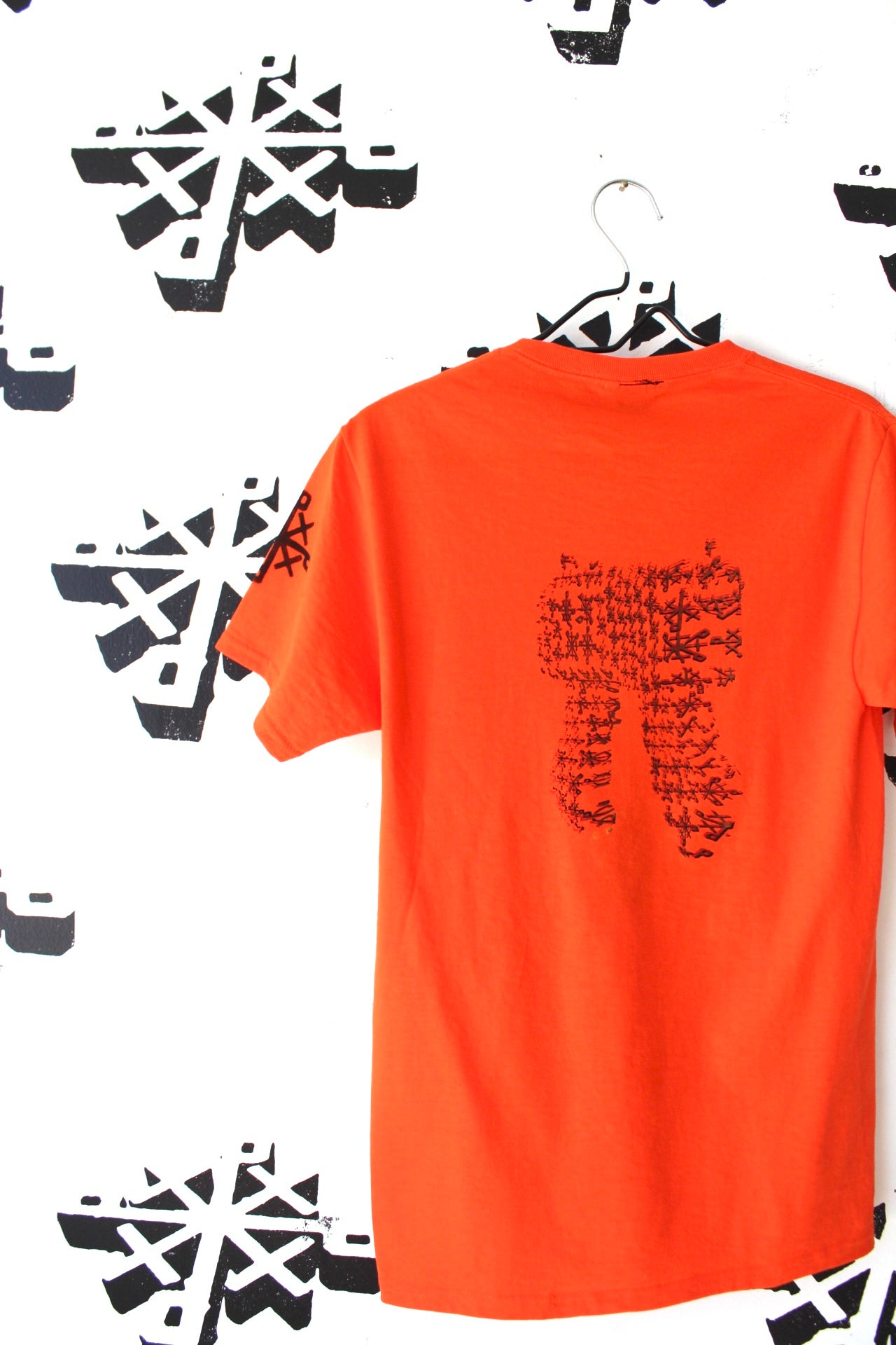 Image of built for both tee in orange