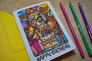 Image of Owlbear Birthday Party - Card