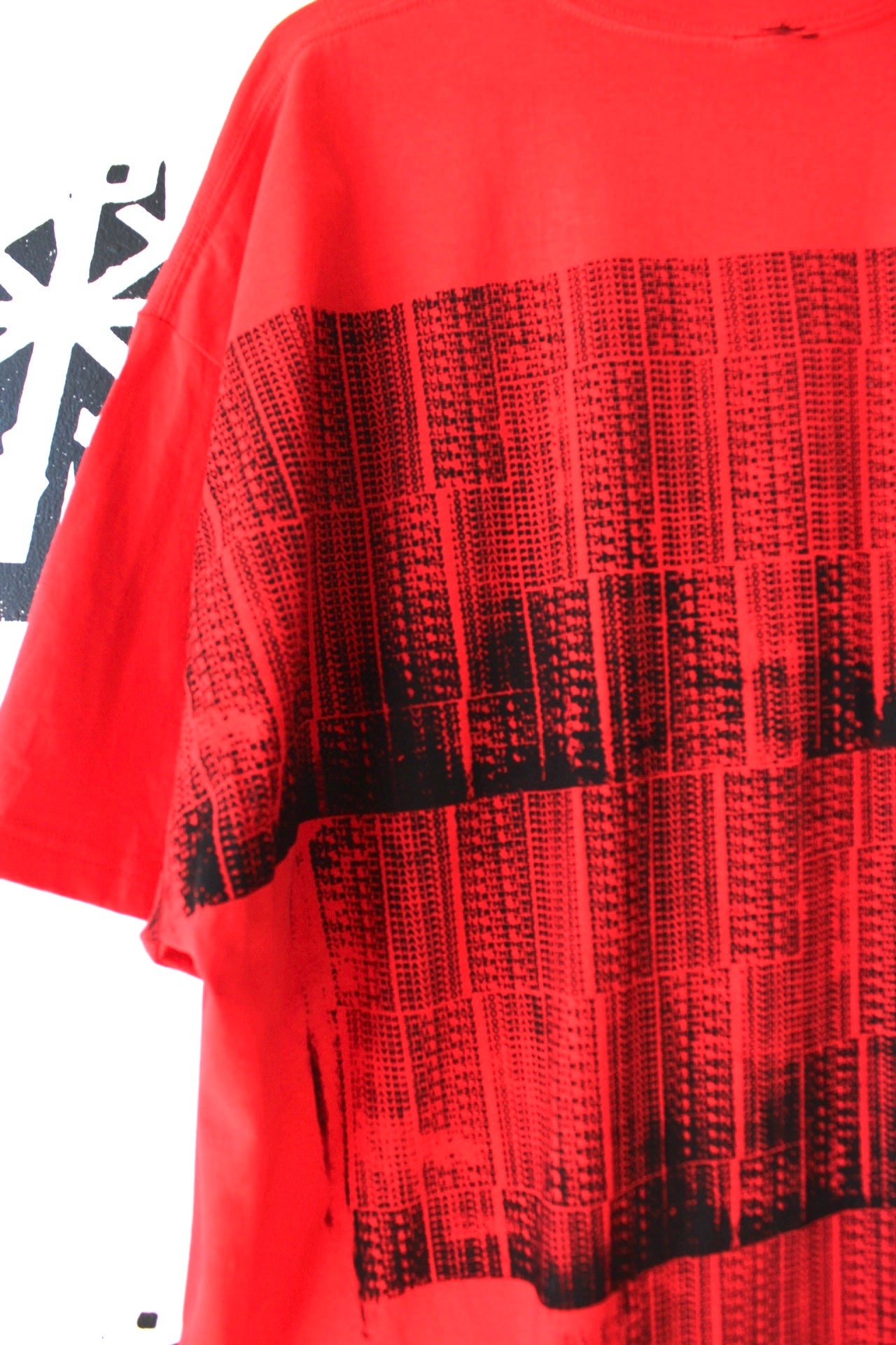 Image of all on my back tee in red