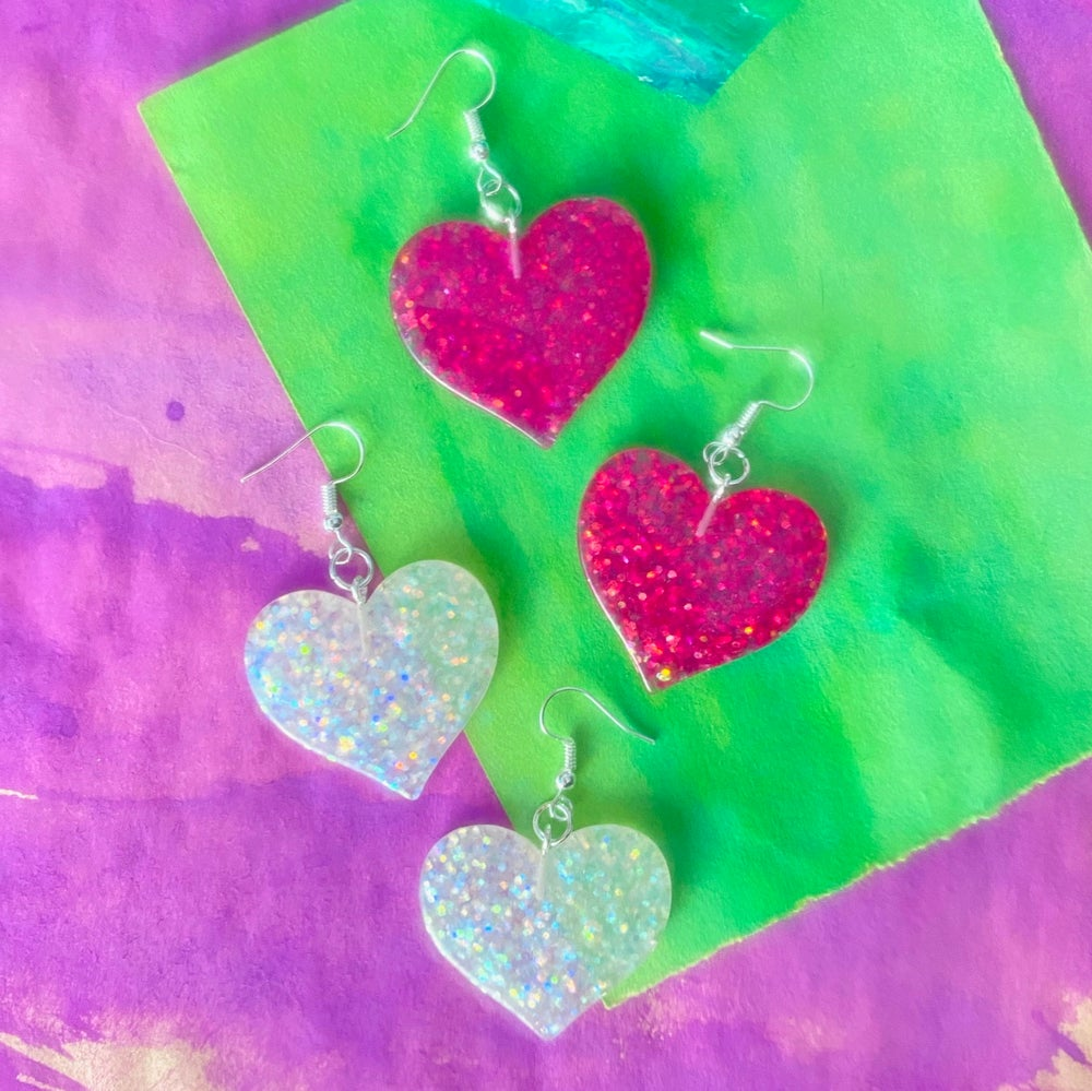 Image of ROLLER DISCO HEART EARRINGS