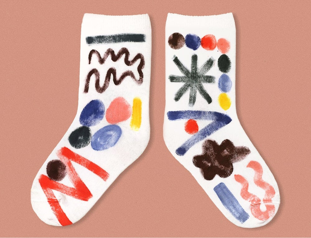 Image of COLOR PAINTED SOCKS