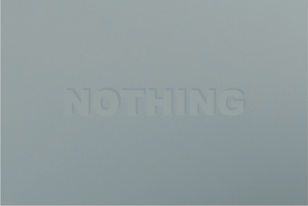 Image of NOTHING.