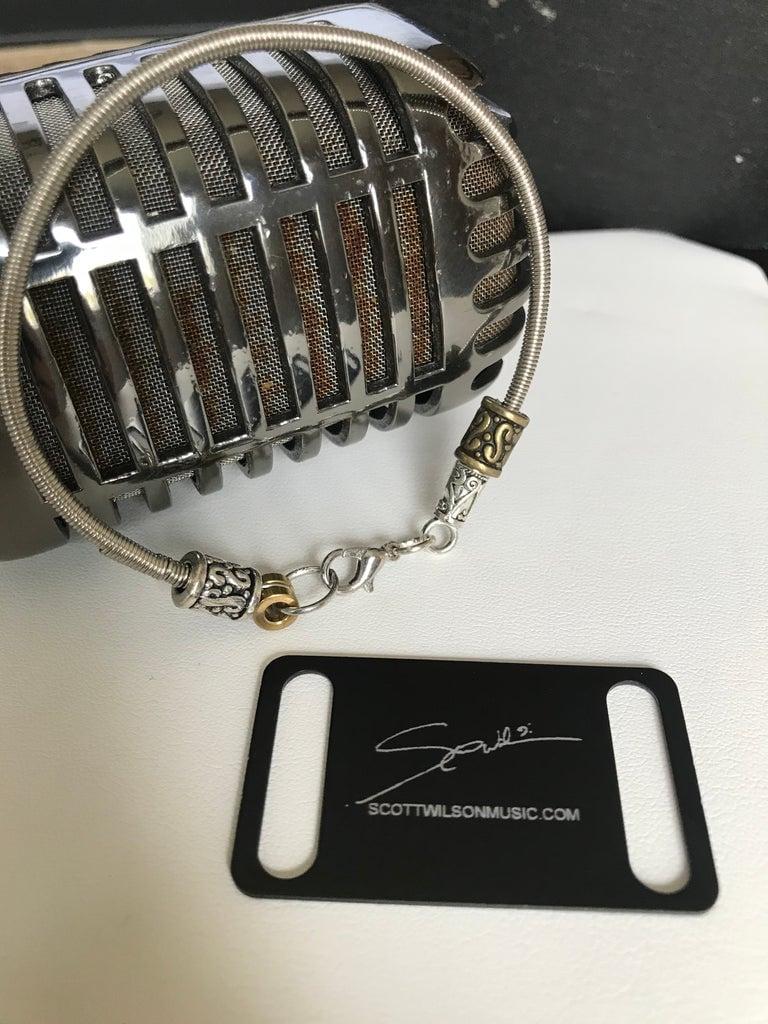 Image of Bass String Bracelet & Bass Bomb Signature Dog Tag Keychain Combo.