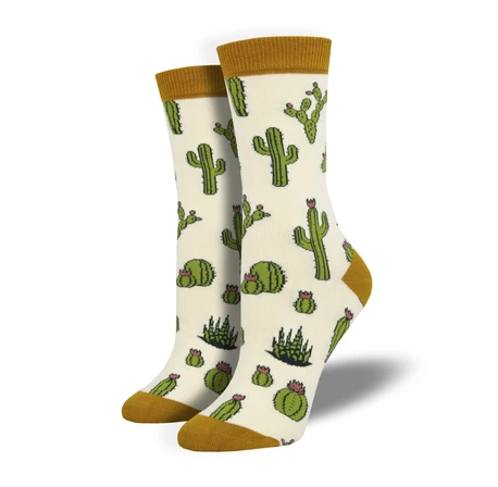 Image of Cactus Bamboo Crew Socks