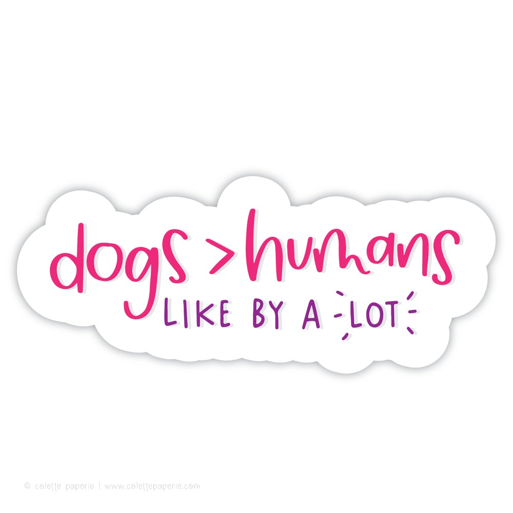 Image of Dogs & Humans Sticker