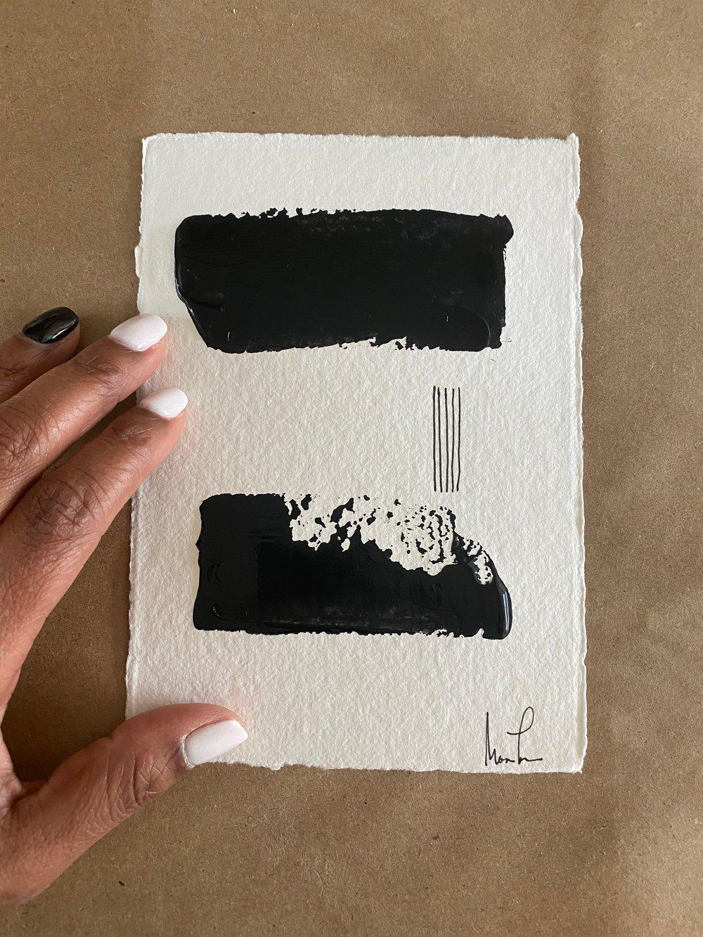 Image of Black Tie Cotton Rag (38)