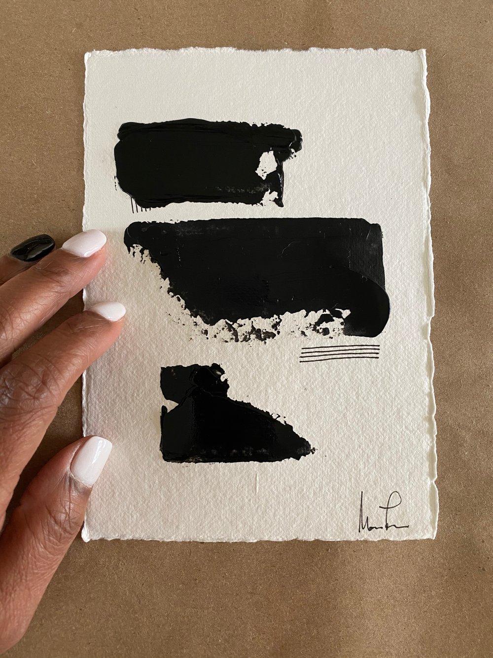 Image of Black Tie Cotton Rag (39)