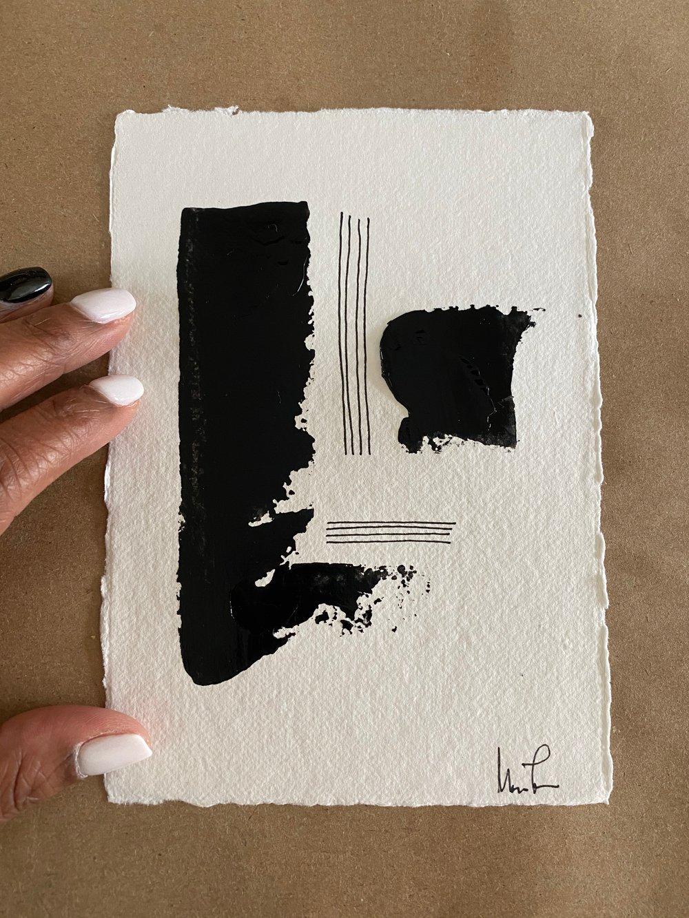 Image of Black Tie Cotton Rag (40)