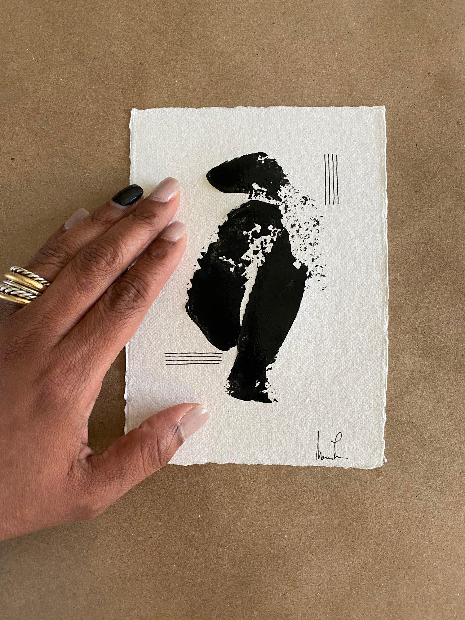 Image of Black Tie Cotton Rag (42)