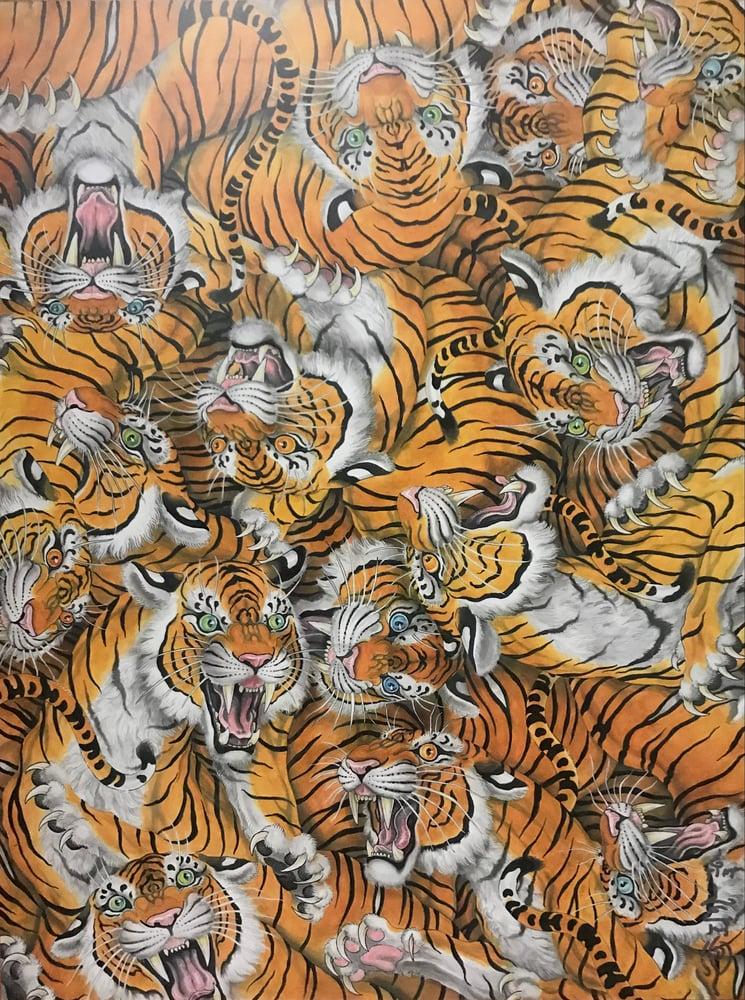 """Image of Tim Lehi """"Tiger Swarm"""" Signed Poster"""