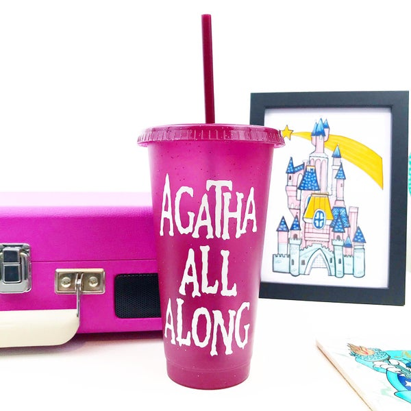 Image of Agatha Reusable Glitter Cold Cup