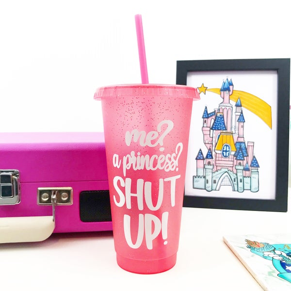 Image of Princess of Genovia Reusable Glitter Cold Cup