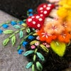 Springtime flowers witch hat pincushion