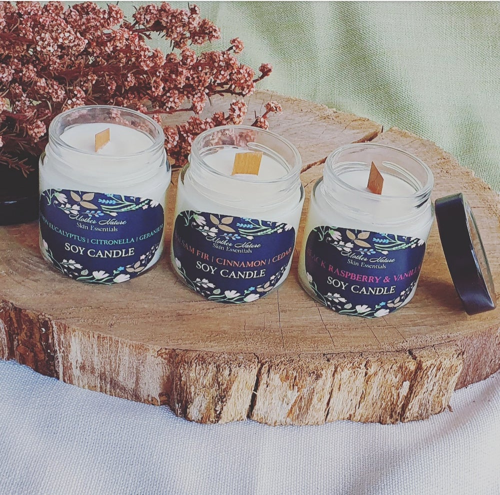 Image of Aromatherapy Soy Candles | Wood-wick Candles |