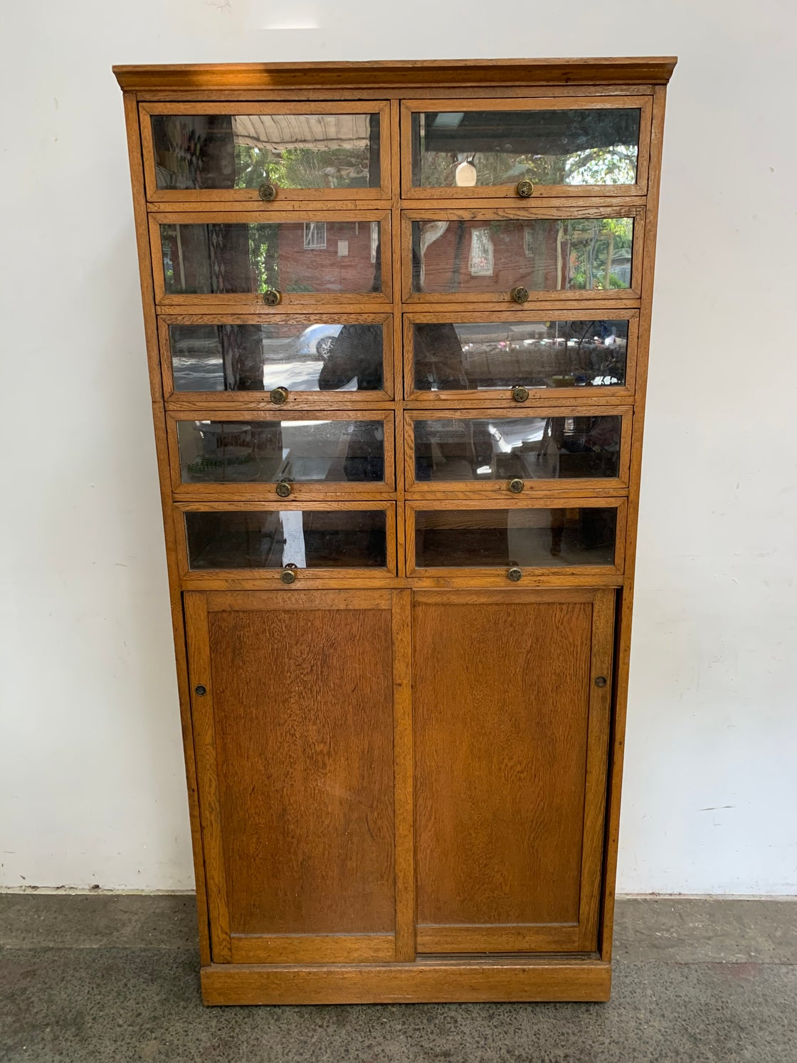 Image of 1930s HABERDASHERY  CUPBOARD