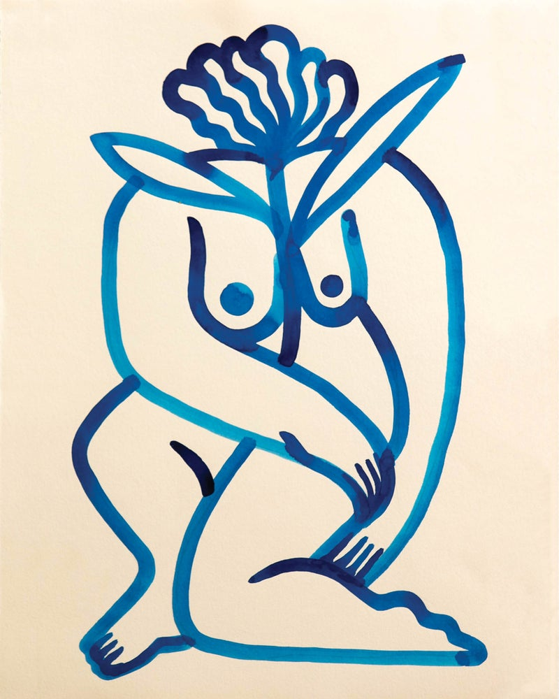 Image of Blue Flower Head